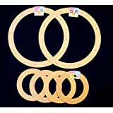 "Value Pack. 6 Rings, 2 x 18"" + 4 x 9"" Biodegrable Floral Craft Rings, Ez Wrap Poly Mesh Center Piece Wreath Form, for Photo Frame, Candle Ring, Mobile, Dream Catcher Etc"