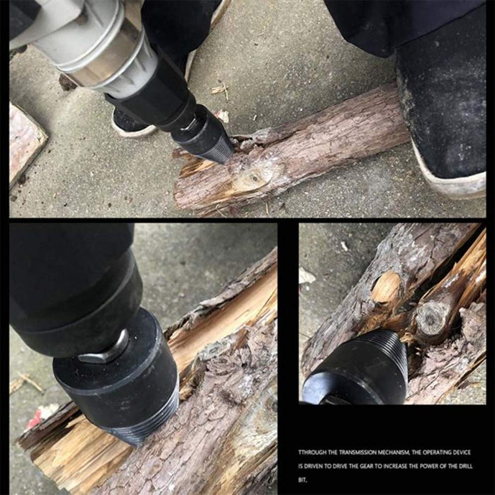 Splitting Wood Cone Drill Bit Heavy Duty Drill Screw Cone Driver Log Wood Splitter Wood Breaker Tool for Household Use 44mm//1.73in
