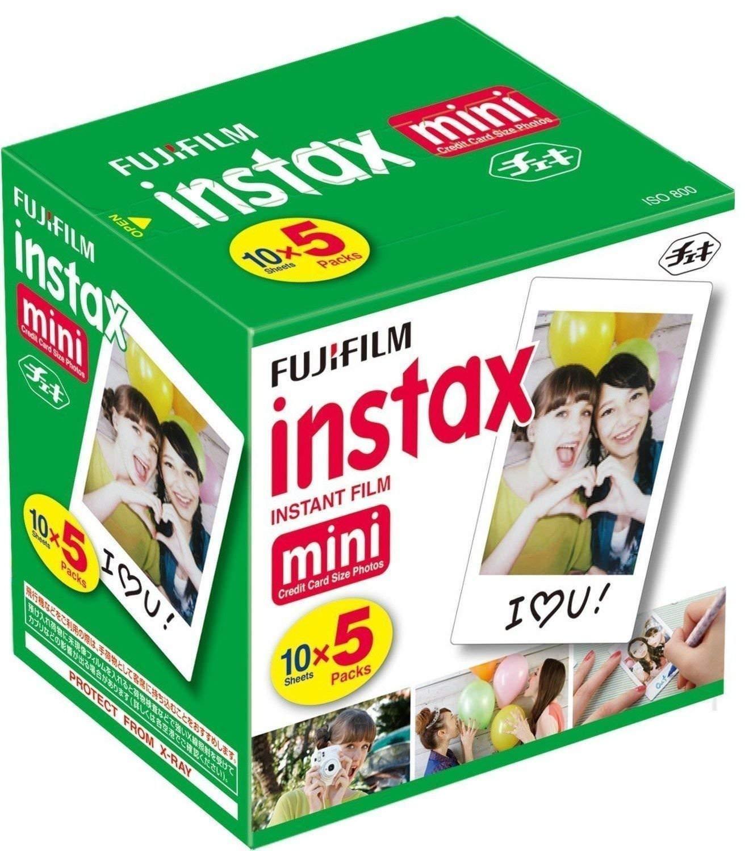 Fujifilm Instax Mini Instant Film, 10 Sheets×5 Pack(Total 50 Shoots) - 71wQQ3NSHUL - Fujifilm Instax Mini Instant Film, 10 Sheets×5 Pack(Total 50 Shoots)