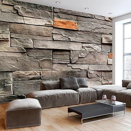 murando - Fototapete 450x315 cm - Vlies Tapete - Moderne Wanddeko - Design Tapete - Wandtapete - Wand Dekoration - Stein Opti