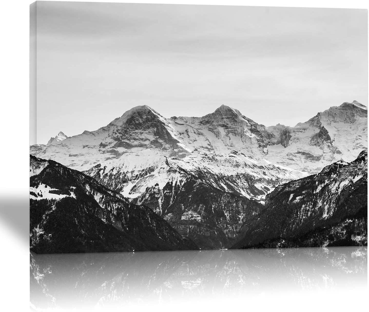 Looife Custom Wall Art Prints from Your Photo on 48x36in Canvas, Personalized Wall Decor Paintings with Solid Wood Frame for Living Room, Bedroom, Kitchen and Office, Ready to Hang