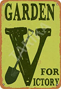 Tarika Garden for Victory Iron Poster Vintage Painting Tin Sign for Street Garage Home Cafe Bar Man Cave Farm Wall Decoration Crafts