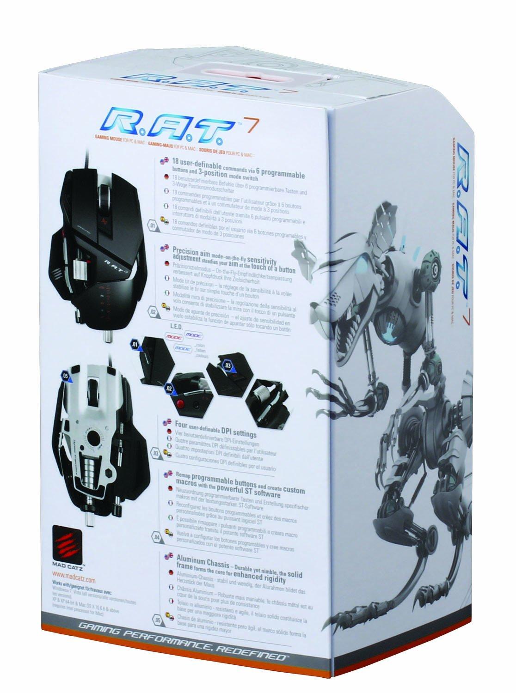 Mad Catz RAT 7 Gaming Maus, 6400 dpi, PC und MAC