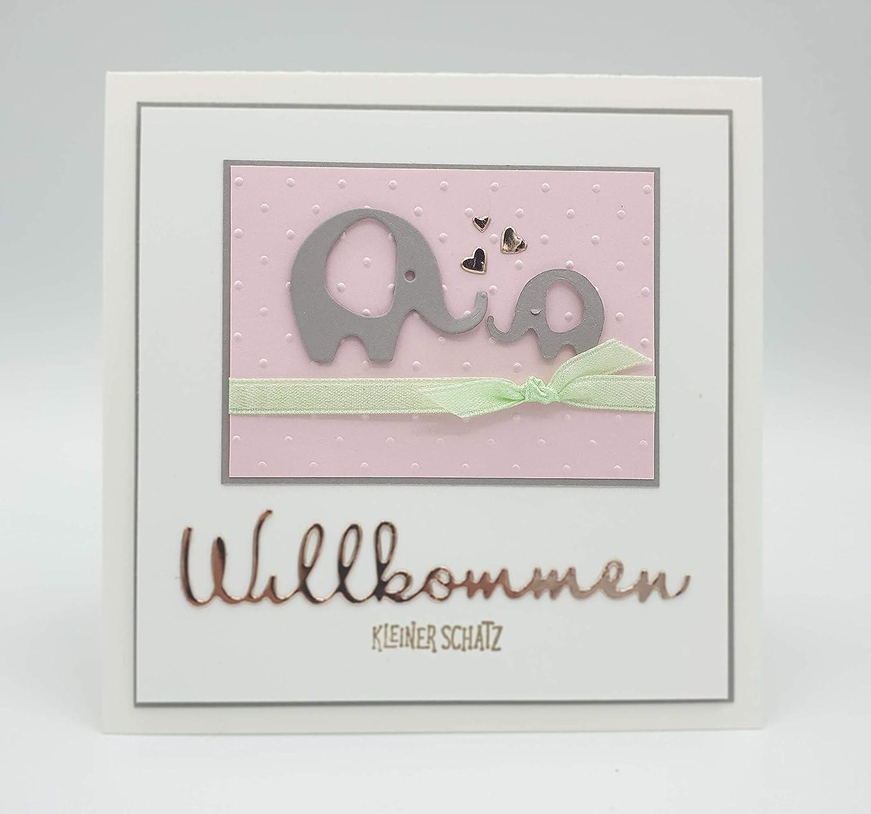 Babykarte Gl/ückwunschkarte zur Geburt Karte zur Geburt eines M/ädchens