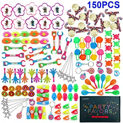 Amy&Benton 150PCS Party Favors Toy Assortment for Kids, Carnival Prizes and School Classroom Rewards, Pinata Filler Toys for Kids Birthday Party, Bulk Toys Treasure Box for Boys and Girls: Toys & Games