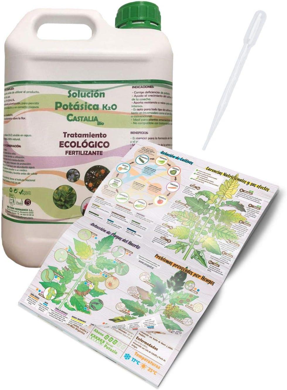 COCOPOT Kit Jabón Potásico Eco 5L. (Solución potásica) con Pipeta dosificadora y Manual del huerto