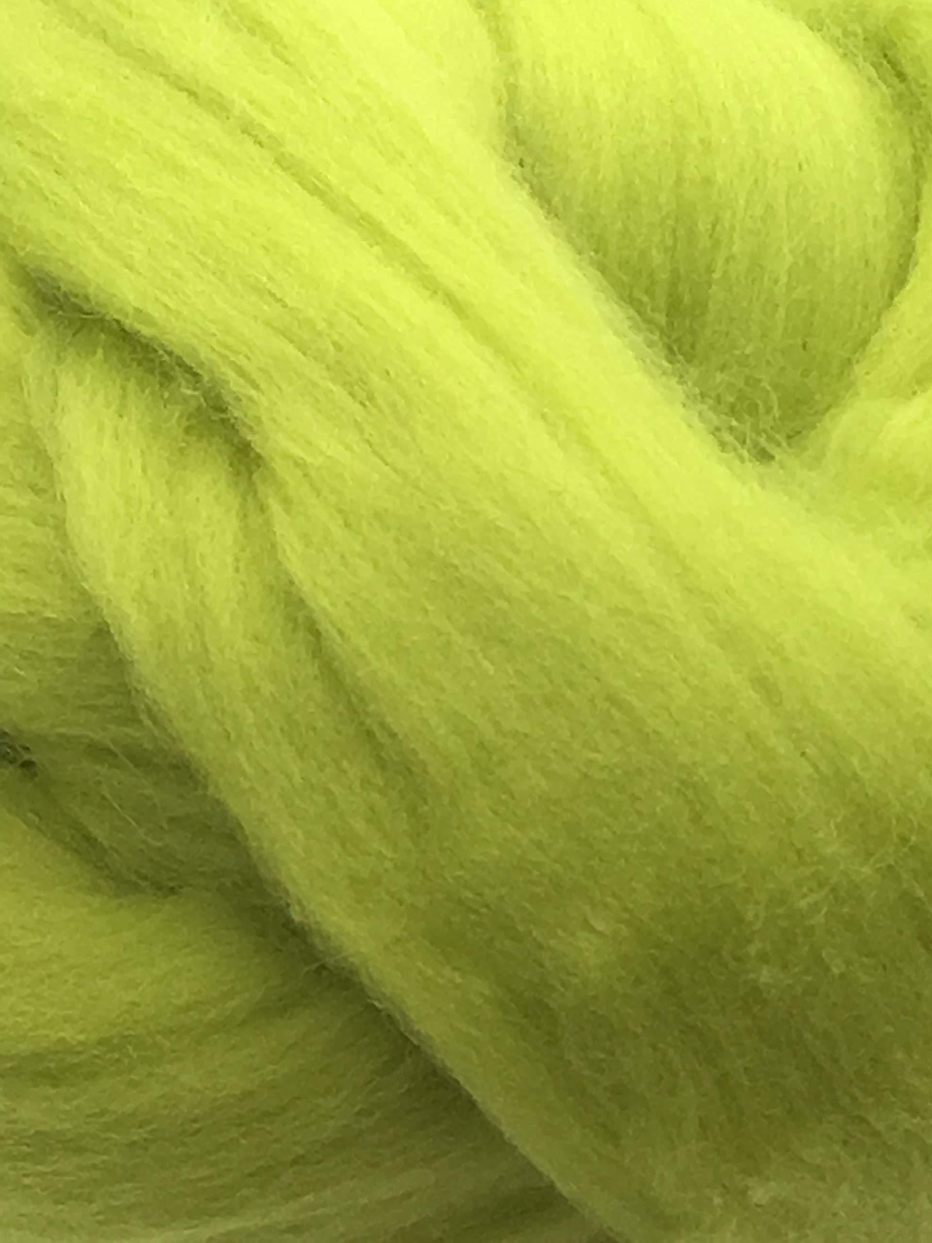 1lb Felting Crafts USA Spruce Green Wool Top Roving Fiber Spinning