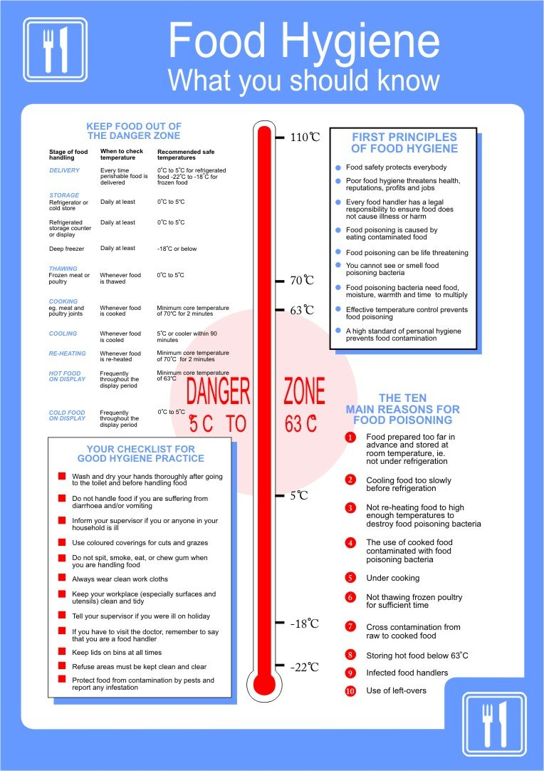 Food Hygiene Poster 420x595mm: Amazon.co.uk: DIY & Tools