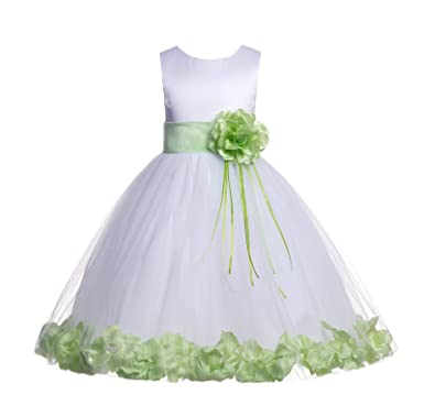 Amazon Ekidsbridal Rose Petals White Flower Girl Dresses