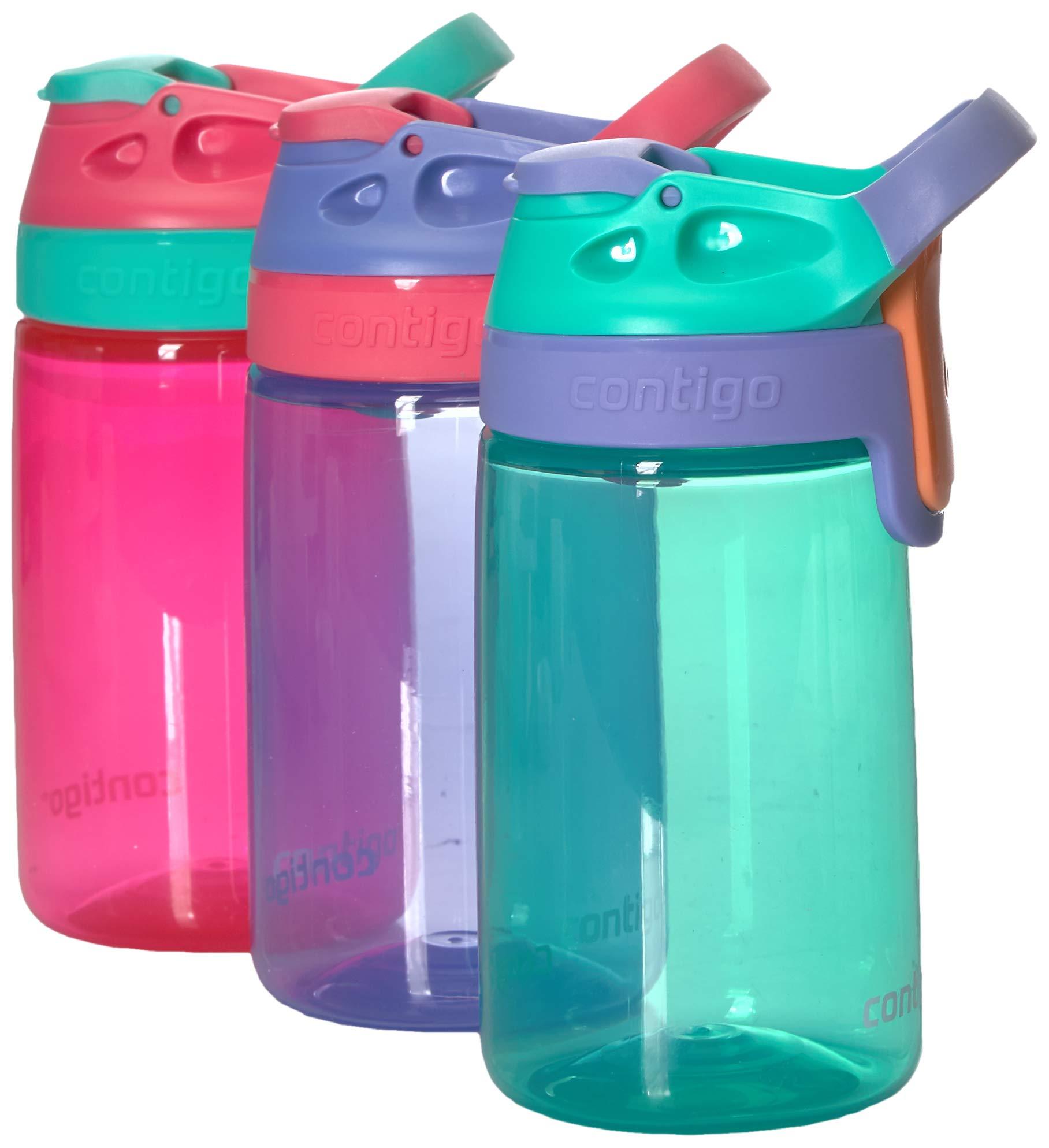Contigo Kids Autoseal Gizmo Water Bottles, 14oz (Sprinkles/Wink/Persian Green) by Contigo