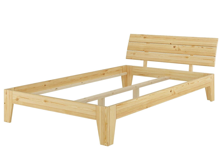 Erst-Holz Kieferbett Natur Einzelbett Futonbett Massivholz-Bettgestell 120x200 ohne Rollrost 60.62-12oR