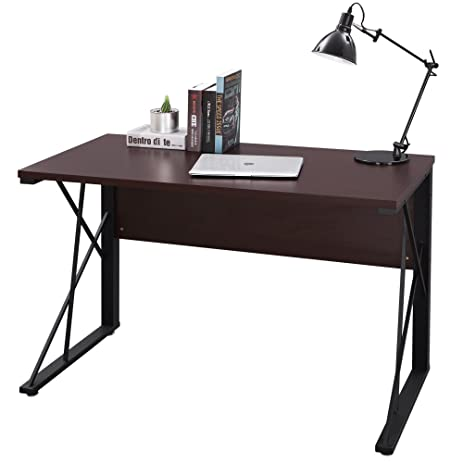 SONGMICS Computer Desk Wood Top Office Workstation PC Laptop Study Table For Home ULWD12Z