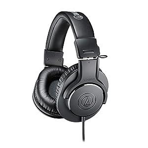 Audio-Technica ATH-M20x Over-Ear Professional Studio Monitor Headphones (Black)