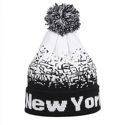 03510ed5a02 ❤️Ywoow❤ Men Women Baggy Warm Winter Wool Knit Ski Beanie Skull Slouchy Caps