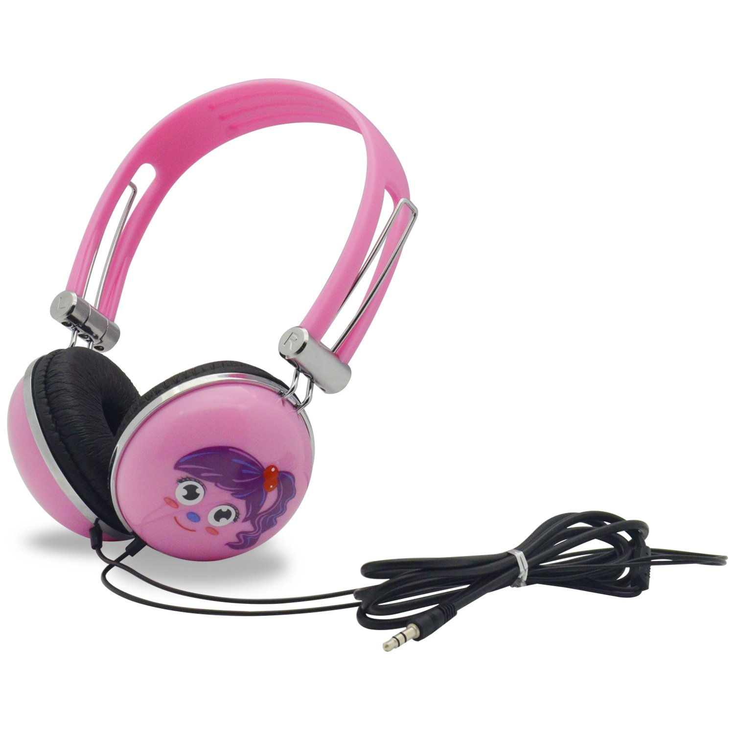 WONNIE Headset for Portable DVD Player, PC, Mobile Phone, Cartoon Headphone (Pink) by WONNIE