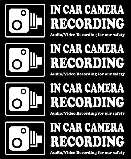 Warning On Board Camera Recording Car Window Truck Auto Vinyl Sticker Decor-Gift