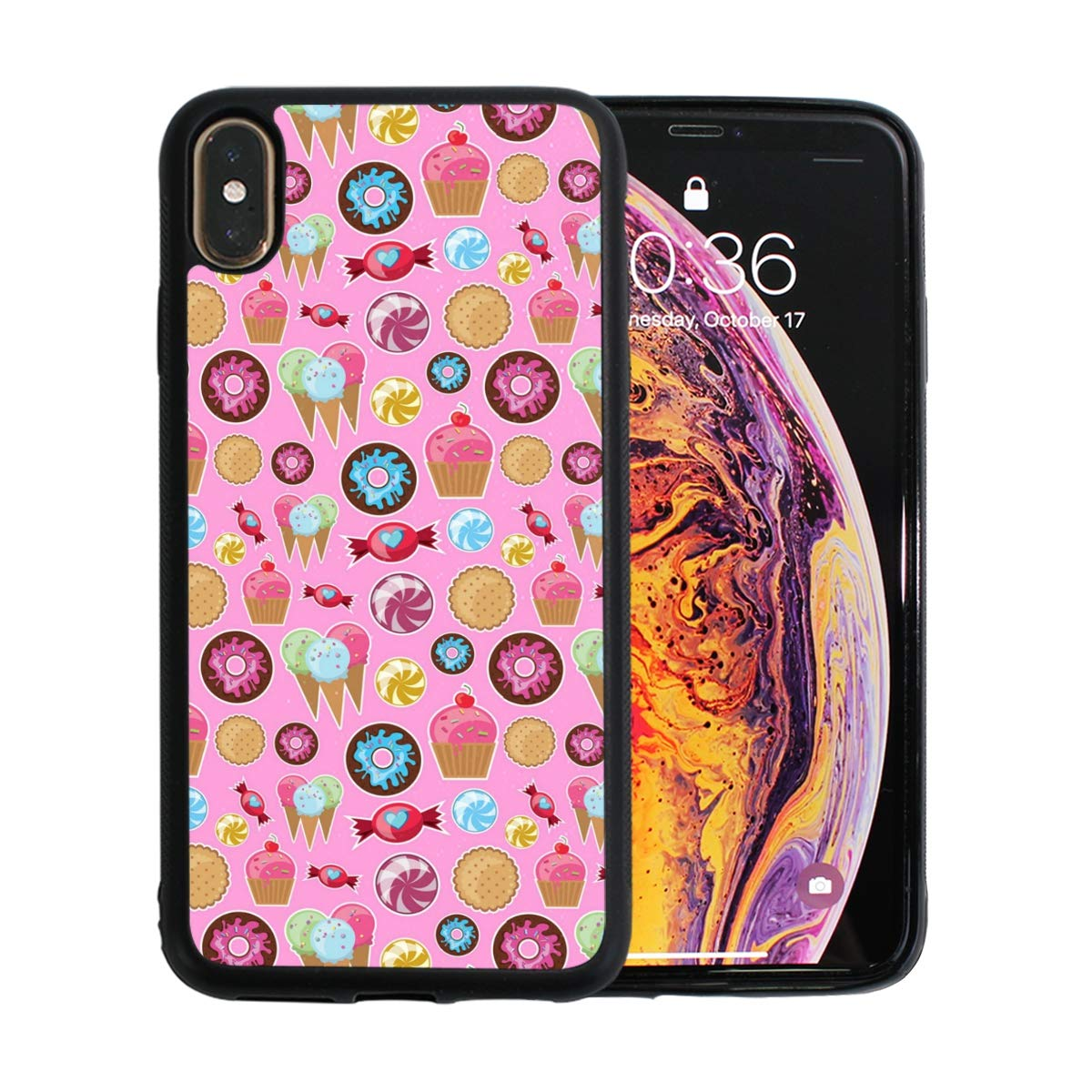 Pink Cake Decorating Kit Designed for Apple iPhone Xs MAX Case Scratch-Resistant Ultra-Thin Case