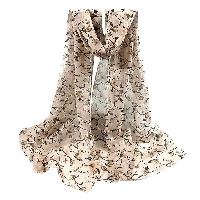 vendite all'ingrosso dove comprare prezzo all'ingrosso Xmiral Sciarpa Donna,Sciarpa scialle in chiffon con stampa piccola Sciarpe  da viaggio con scialli in Seta Artificiale con scialle a fiori, con motivo  ...