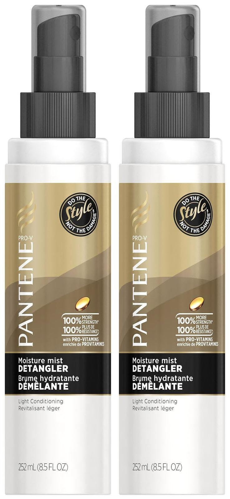 Pantene Pro-V Moisture Mist Detangler Light Conditioning - 8.5 oz - 2 Pack