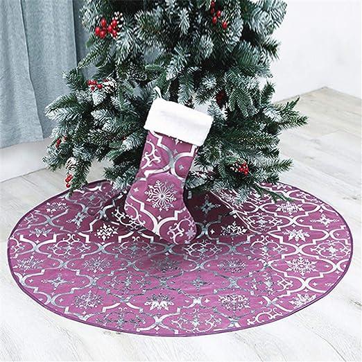 Meiju Falda de decoración para árbol de Navidad,Suave Alfombra de ...