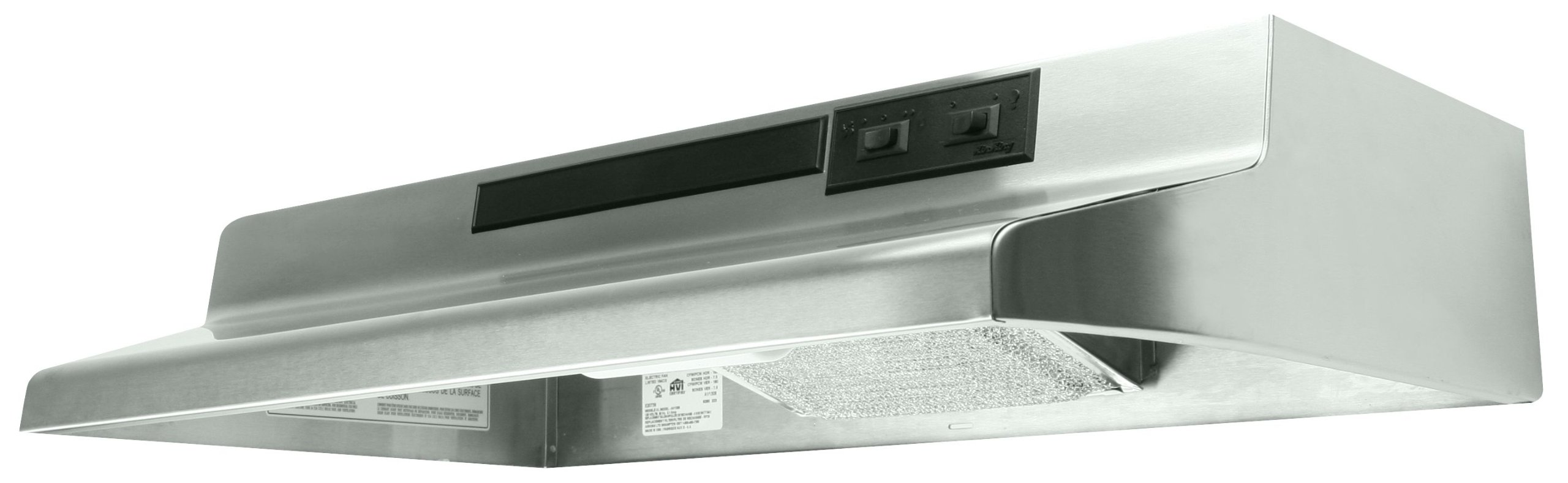Air King AR1308 7-Inch Round Ducting Under Cabinet Range Hood with 2-Speed Blower and 180-CFM, 7.5-Sones, 30-Inch Wide, Stainless Steel Finish