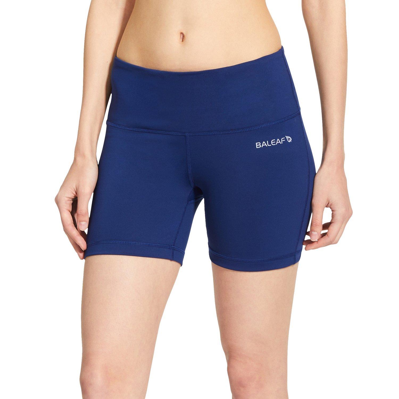 Baleaf Women's High Waist Yoga Shorts Tummy Control