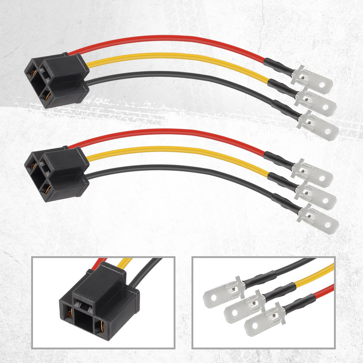 71wQaUXYvlL._SL1200_ amazon com partsam h4 9003 hb2 wire wiring harness sockets for 4\