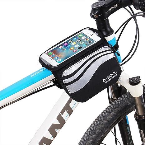99d512873a VEQSKING Sacoche de vélo avec support pour téléphone  portable,