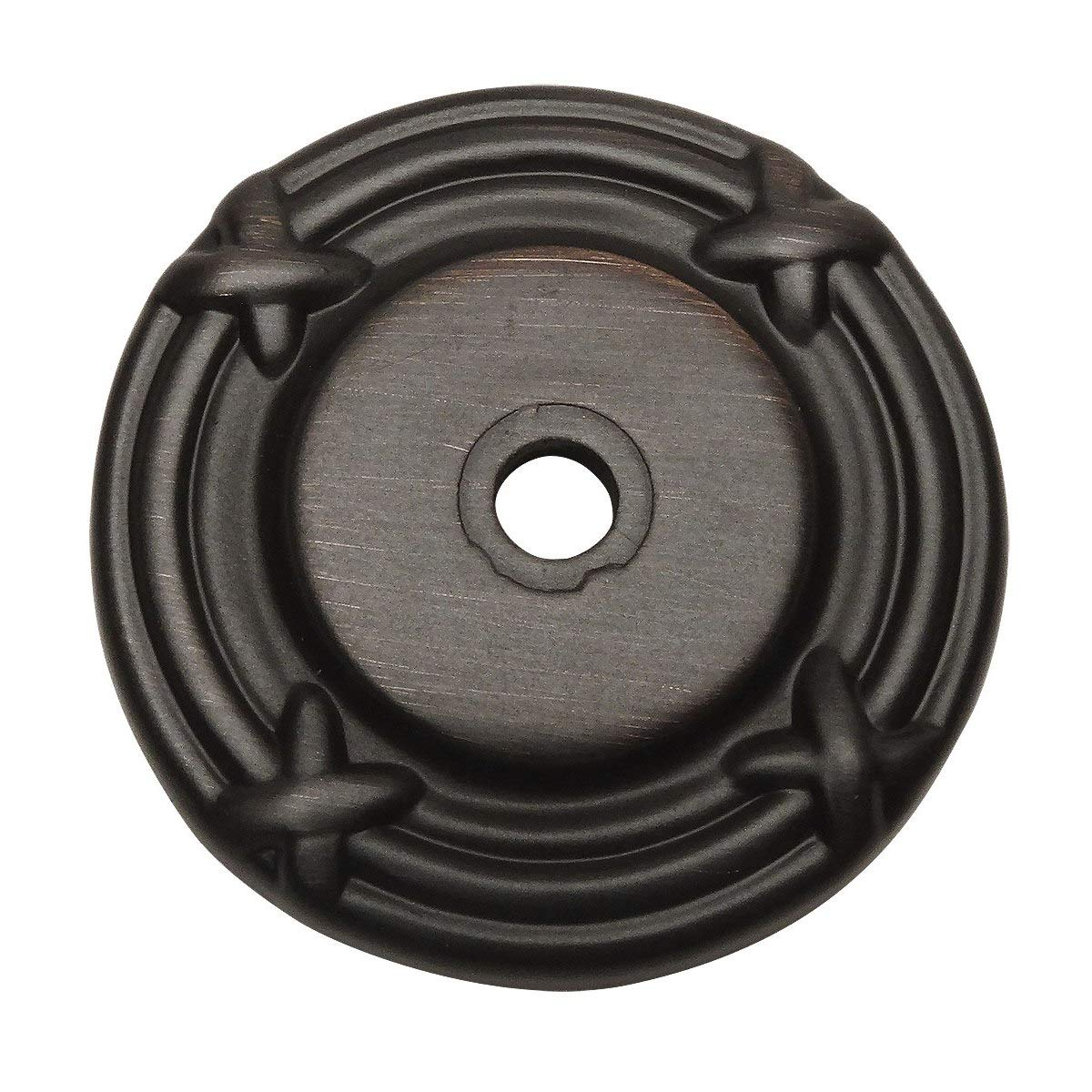 25 Pack - Cosmas 9468ORB Oil Rubbed Bronze Cabinet Hardware Knob Backplate/Back Plate