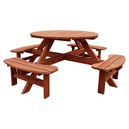 Brilliant Amazon Com Leisure Season Round Sturdy Picnic Table W Andrewgaddart Wooden Chair Designs For Living Room Andrewgaddartcom