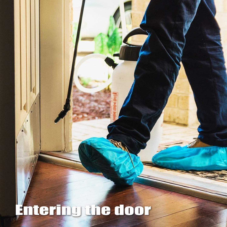 100 PCS Disposable Shoe Covers Heavy Duty Overshoes Durable Boot Cover Non-Slip Protectors for Floor Carpet