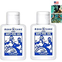 Aqua Lung America 2 Bottle of Crystal Clear Vision Anti-Fog Solution for Dive Mask Swim Scuba Snorkel Mask Beach…