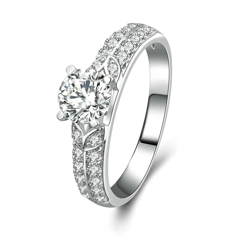 Anazoz シルバー 925 女性 指輪 「真実の愛」 魅力的 グッドカット Cz 大切な人にプレゼント 誕生日 結婚記念日 贈り物 サイズ: 20号 B07L2L8FSN
