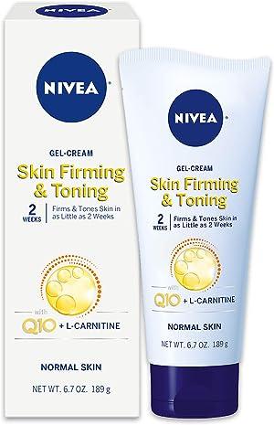 NIVEA Skin Firming & Toning Body Gel-Cream, with Q10 For Normal Skin, 6.7 Oz Tube