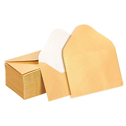 mini envelopes 100 count bulk gift card envelopes gold business card envelopes - Business Card Envelopes
