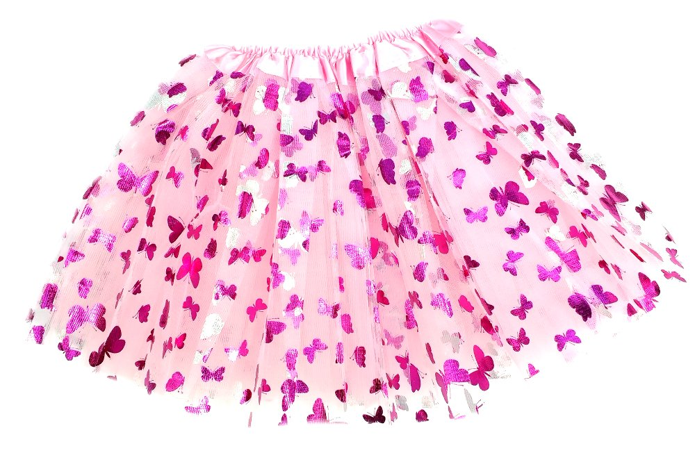 Girls Pink Butterfly Fairy Costume with Wings, Wand and Halo by Fairytale Play (Image #4)