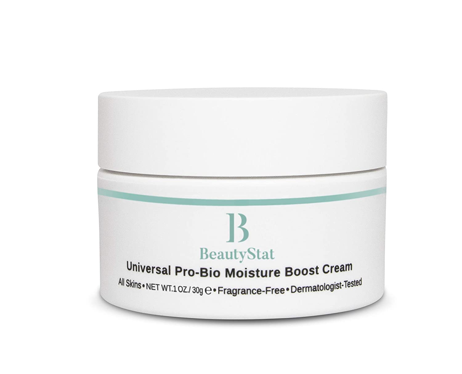 BeautyStat Cosmetics Universal Pro-Bio Moisture Boost Cream, Hyaluronic Acid Facial Skin Moisturizer, Natural Anti Aging, Anti Wrinkle, 1 oz.