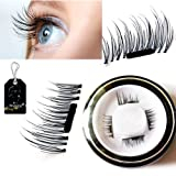 Amazon Price History for:Mupater New False Magnetic Eyelashes, 3D Reusable Magnetic Fake Eyelashes, 0.02mm Ultra-thin, 1 Pair 4 Pieces