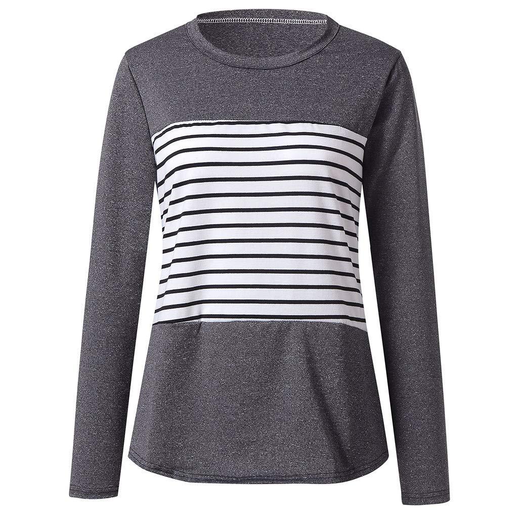 Eduavar Blouse❆Womens Ladies Girls Womens Thankful Grateful Blessed T-Shirt Long Sleeve Blouse Top Sweatshirt Sweater