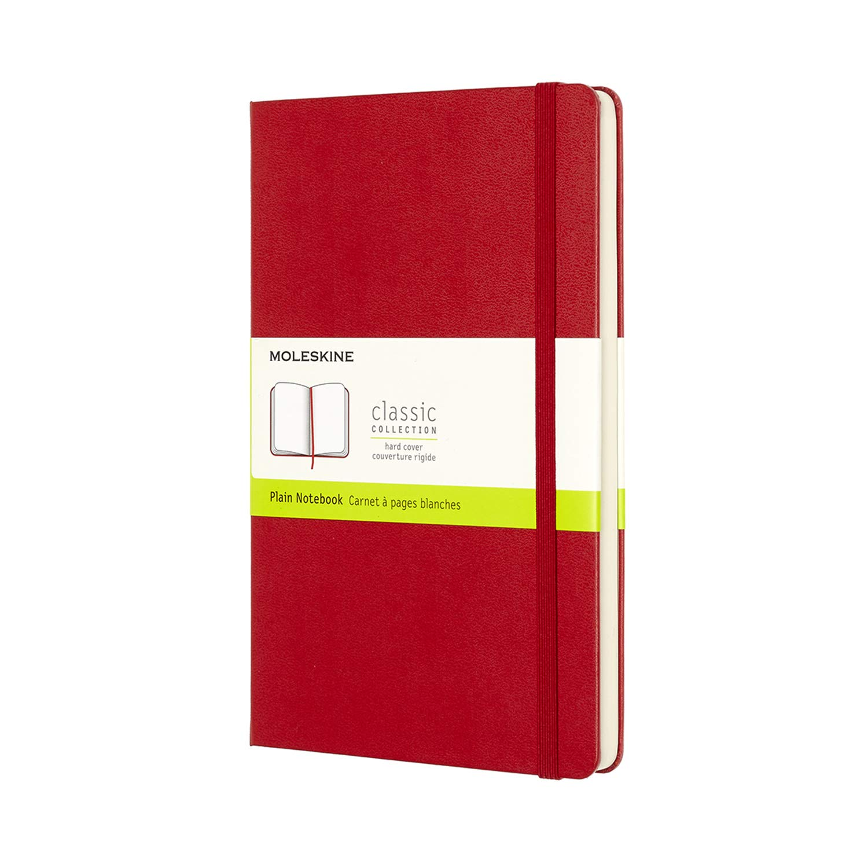 Moleskine Classic Notebook a Quadretti Taccuino con Copertina Rigida e Chiusura ad Elastico 192 Pagine Nero Dimensione A4 21 x 29.7 cm