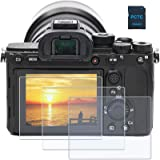 PCTC Tempered Glass LCD Screen Protector fit for Sony Alpha a7II A7III A7IV a7SII a7SIII a7RII a7RIII a7RIV RX100VII RX100VI
