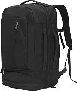 Travel Max Carry On Travel Backpack 40L Anti-theft Luggage Backpack 17 Inch Laptop Bag with Shoes Compartment Combination Lock (Black)
