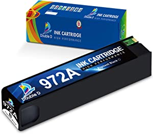 DOUBLE D 972A Black Compatible Ink Cartridge Replacement for HP 972A 972 (F6T80AN) for HP Pagewide Pro 477dw 377dw 477dn 577dw 377dn 577z 452dn 452dw 552dw P55250dw P57750dw (1 Black) -Updated Chip