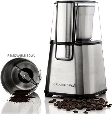 Genial Ovente Multi Purpose Stainless Steel Electric Grinder For Coffee Beans And  Most Spices, Seeds
