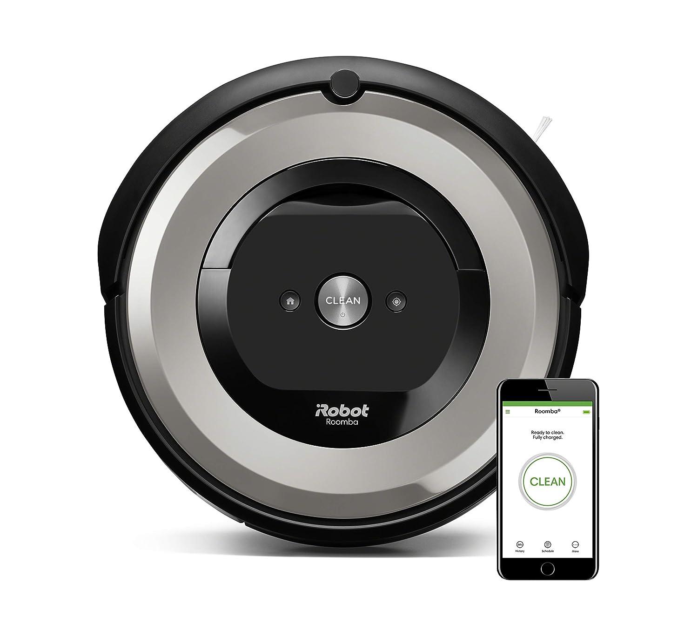 Acquisto iRobot Roomba e5154 Robot Aspirapolvere, Sistema ad Alte Prestazioni con Dirt Detect e Spazzole Tangle-Free, per Pavimenti e Tappeti, Adatto per i Peli degli Animali Domestici, Wi-Fi, Argento Prezzo offerta