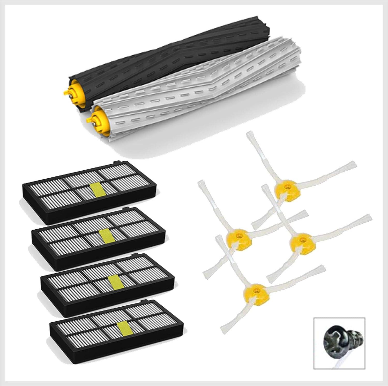 Robomarket - Kit de recambios Juego de accesorios compatible con iRobot 860 865 866 870 871 875 876 880 886 890 960 966 980 - Escobillas de 3 brazos y filtros HEPA: Amazon.es: Hogar