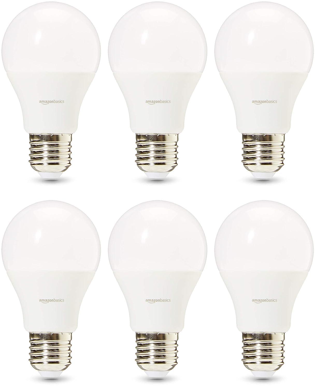 AmazonBasics Professional - Bombilla de tipo Edison LED, casquillo E27, equivalente a 60 W, blanco cálido - juego de 6: Amazon.es: Iluminación