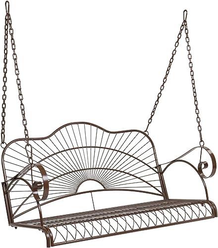 VINGLI Upgraded Metal Patio Porch Swing