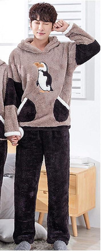 SDCVRE Bathrobe,Conjuntos de Pijamas para Parejas de Invierno ...