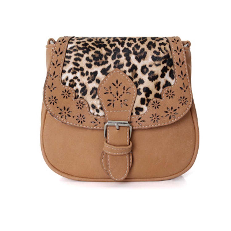 7f0dc87a45dc Cyber Deals Monday Deals Sales 2018Handicrafts Leopard Women's Saddle Bag  Vintage Style Genuine Leather Cross Body Shoulder Bag Handmade Purse for ...